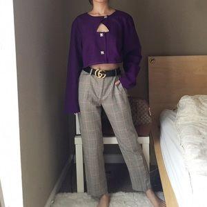 Reworked Purple Lightweight Cropped Jacket